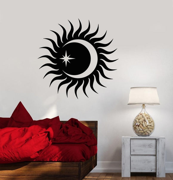 *Sun-Moon-Star Vinyl Wall Sticker - Various Colors Available