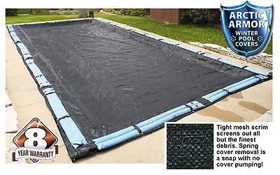 Arctic Armor Rugged Mesh Rectangular In Ground Pool Winter Covers All Sizes!
