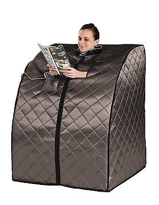 HeatWave Rejuvenator Portable Sauna w/ Carbon Fiber Infrared Heater Panels