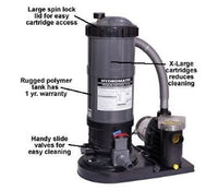 Hydro Above Ground Pool Cartridge Filter System w/ Pump - 90 & 120 Sq. Ft.