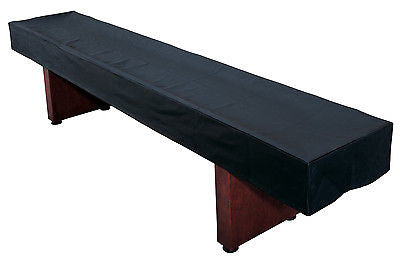 Black Synthetic Leather Shuffleboard Table Cover for 9', 12' and 14' Tables
