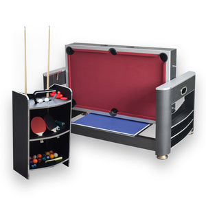 Triple Threat 6' 3-in-1 Combo Game Table w/ Billiards, Ping Pong and Air Hockey