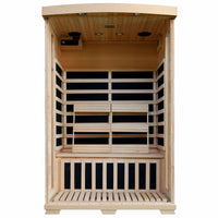 Coronado 2 Person Hemlock Carbon FAR Infrared Low EMF Sauna