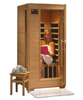Tulum 1 Person FAR Infrared Hemlock Wood Sauna Room with 4 Carbon Heaters