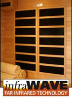 Klondike 4 Person Cedar Infrared Sauna with 9 Carbon Heaters