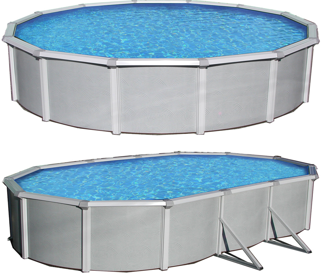 Samoan Steel Above Ground Swimming Pool With 52 Depth And 8 Top Rail Charlie 39 S Wholesale