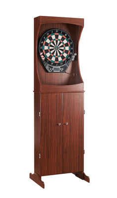 Outlaw Dart Board Cabinet with Official Electronic Scoring Soft Tip Darts Game