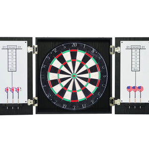 "Winchester Regulation 18"" Dartboard Cabinet Dart Board Set Steel Tip Darts"