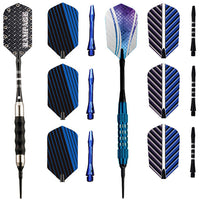 Hathaway Games & Sports Rampage or Galaxy Sure Grip Soft Tip Dart Set of 3 Darts