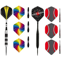 Hathaway Games & Sports Tempest or Widow Maker Steel Tip Dart Set of 3 Darts