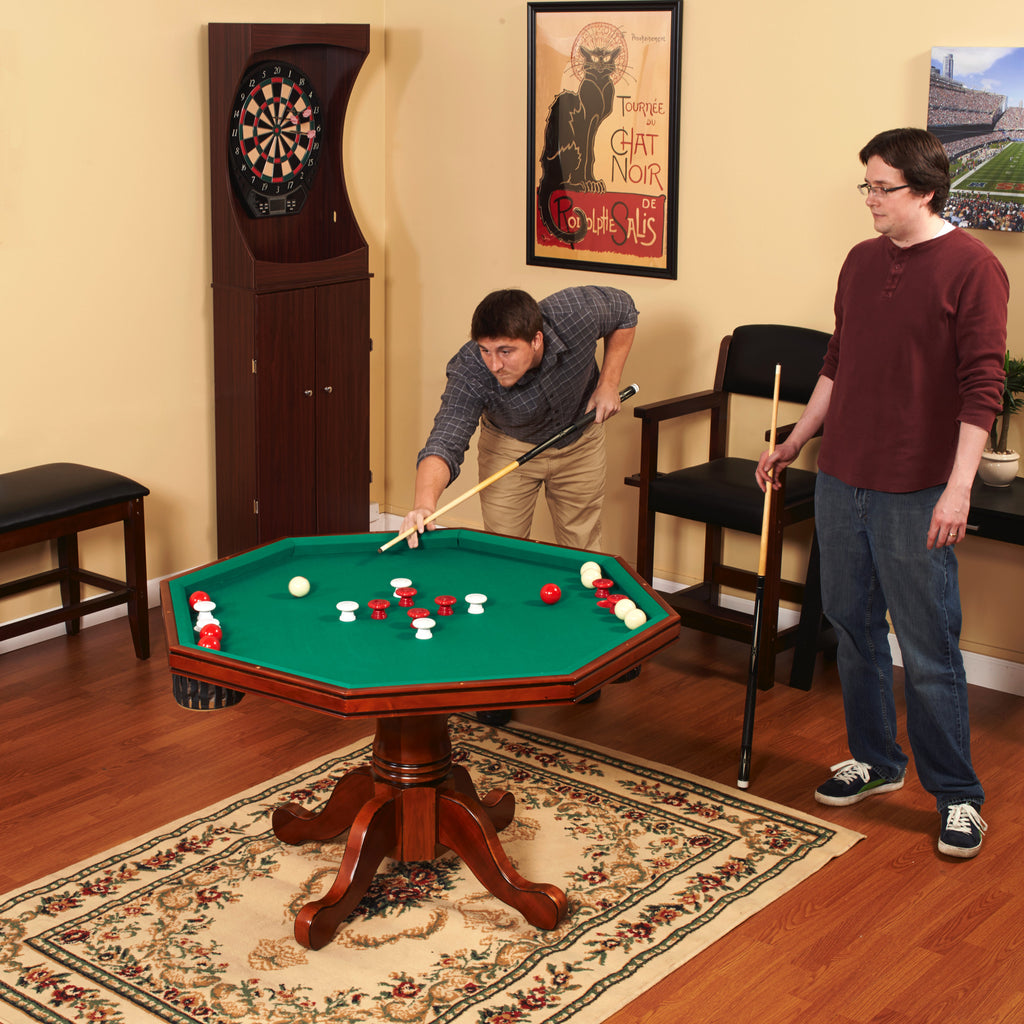 Carmelli Kingston Hardwood Poker Dining Room And Bumper Pool Table - Carmelli pool table