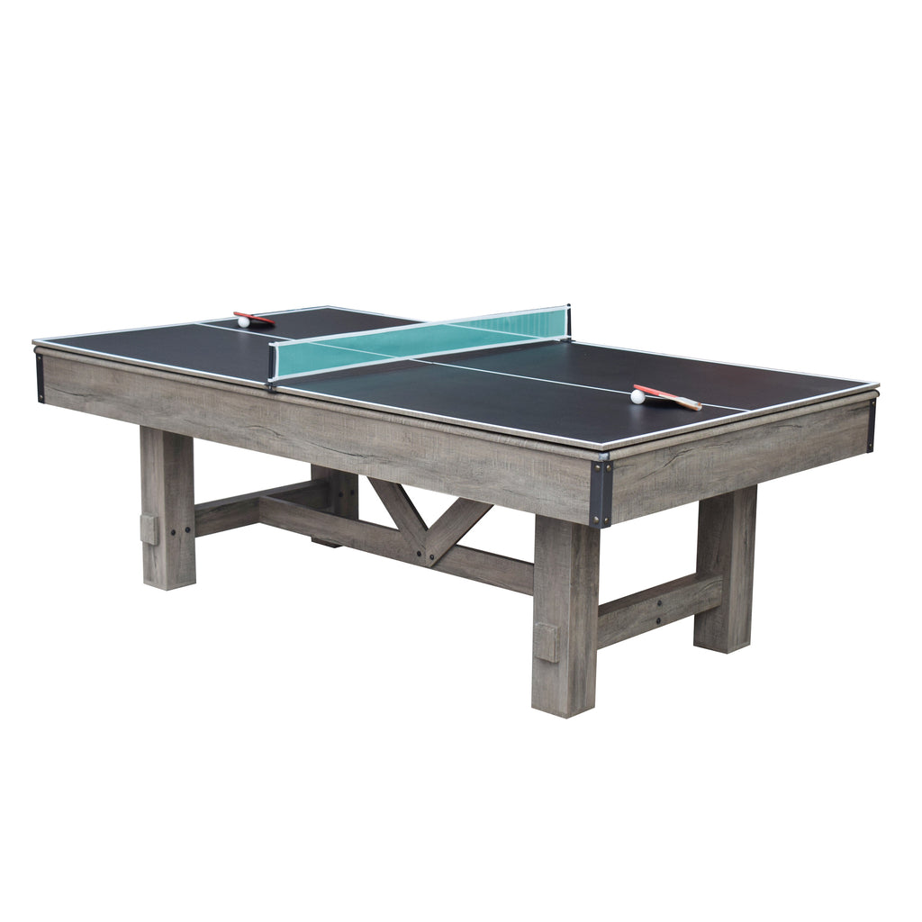 Logan 7 Ft 3 In 1 Combo Pool Table W Benches And Ping Pong Charlie S Wholesale