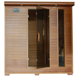 Great Bear 6 Person Cedar Infrared Sauna with 10 Carbon Heaters
