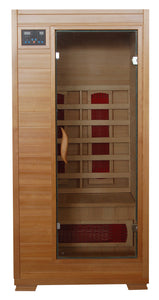 Buena Vista 1 Person FAR Infrared Sauna Room Ceramic Heaters Hemlock Wood