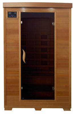 Sahara 2 Person Hemlock FAR Infrared Sauna Room with 5 Ceramic Heaters