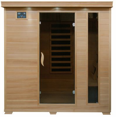 Monticello 4 Person Hemlock Infrared Sauna with 9 Carbon Heaters