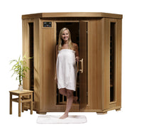 HeatWave Tucson 4 Person Carbon FAR Infrared Sauna Room - Corner Unit