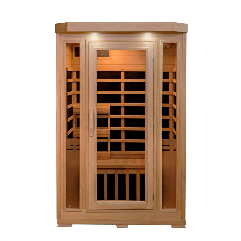 Sonoma 2 Person Hemlock FAR Infrared Low EMF Sauna with Bluetooth Stereo