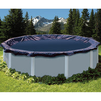 Above Ground Swimming Pool Winter Tarp Covers by Swimline in Round and Oval Sizes