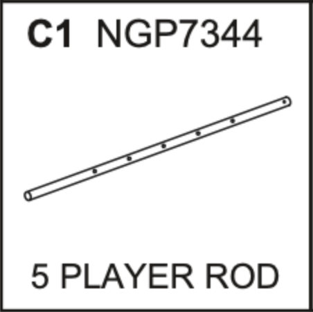Replacement Part NGP7344 5 Player Rod
