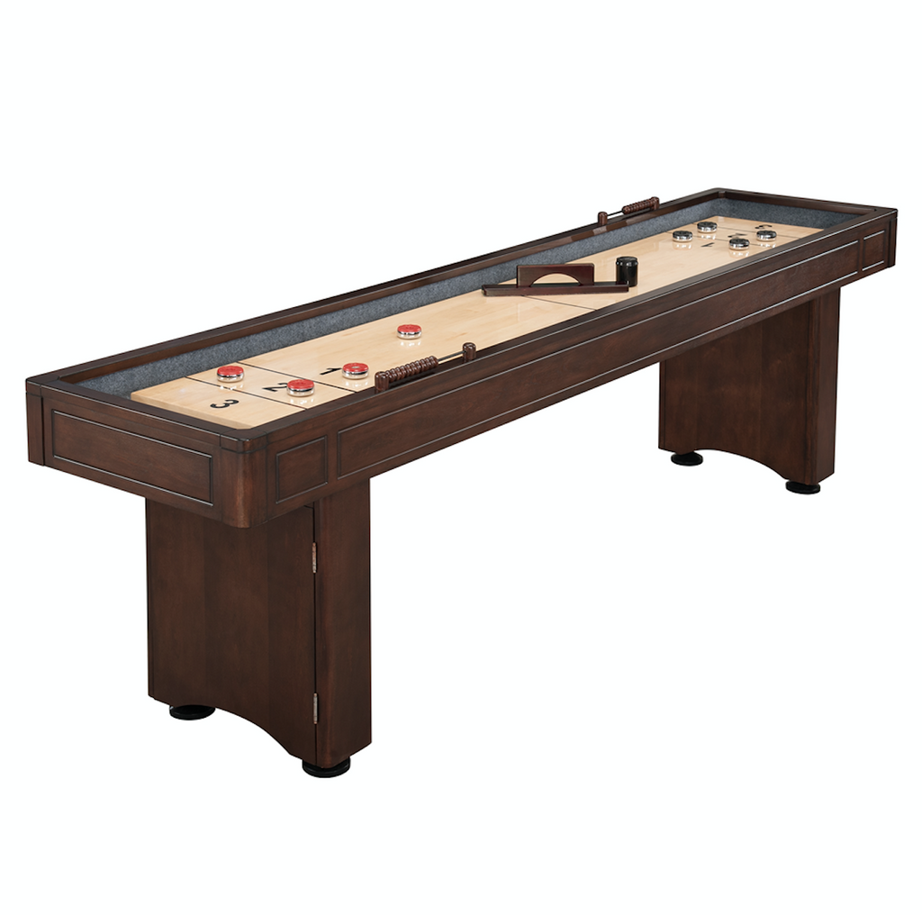Austin 9' White Maple & Poplar Shuffleboard Table