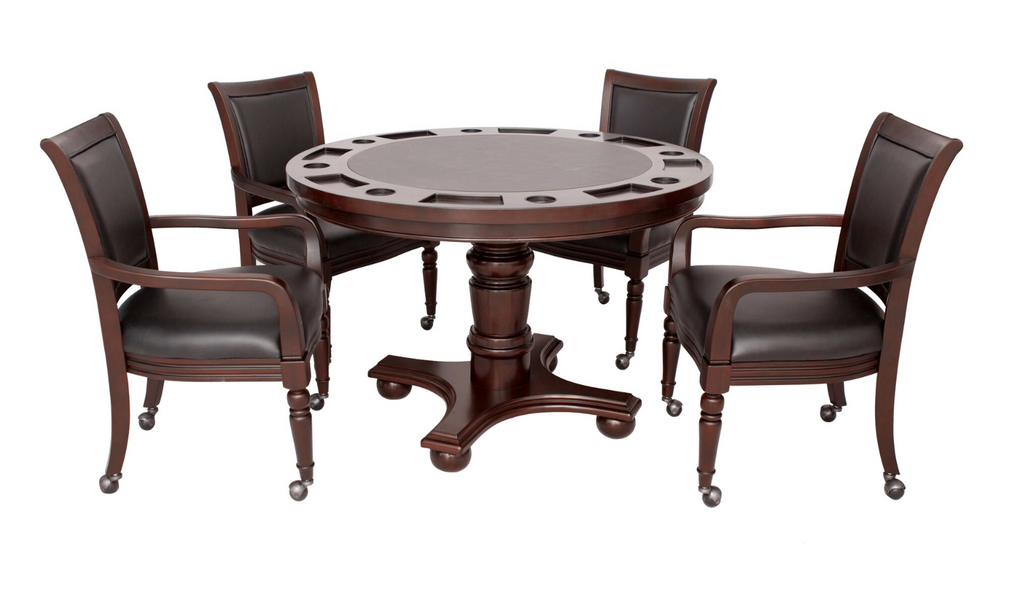 Bridgeport 2-in-1 Poker Game Table & Chair Set