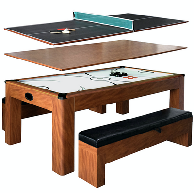 Incroyable ... Sherwood 7u0027 Air Hockey + Table Tennis + Dining Combo Set