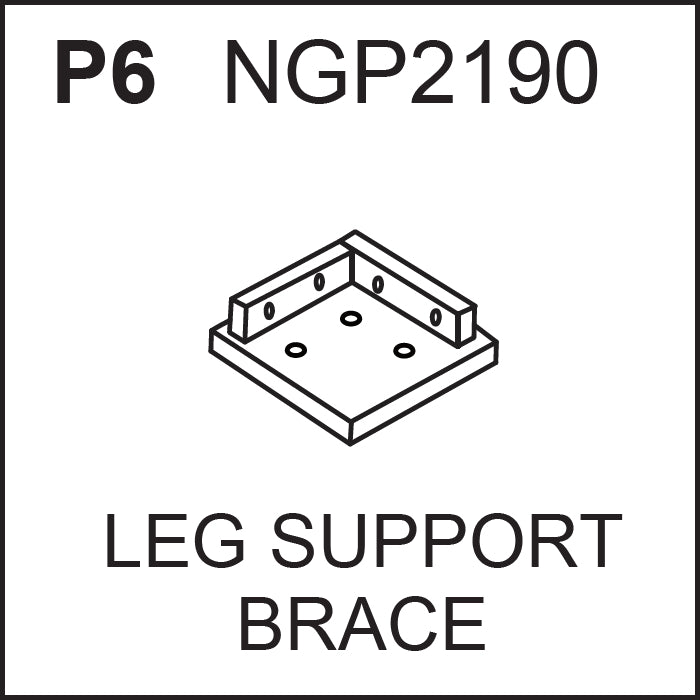 *Replacement Game Table Parts - NGP2190 - Leg Support Brace for Augusta Pool Table