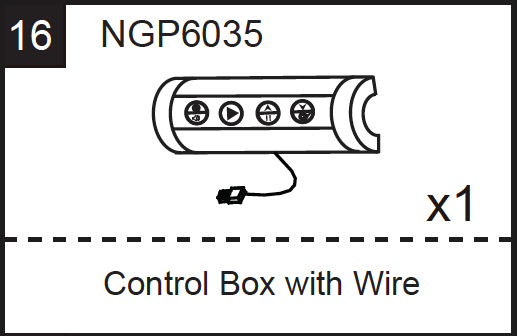 Replacement Part NGP6035 Control Box with Wire