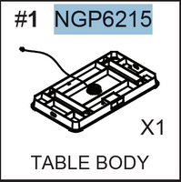 Replacement Parts - NGP6215 Air Hockey Body