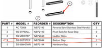 Replacement Part NEP2044 Bottom Step BS BOTSTEP