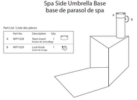 Replacement Spa Parts NP5812 Spa Side Umbrella Base