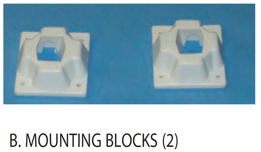 Replacement Part NEP2024 Mounting Block Set of 2