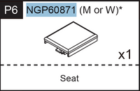 Replacement Parts - Cambridge Spectator Chair Seat NGP60871(M or W)