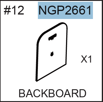 Replacement Part NGP2661 Backboard