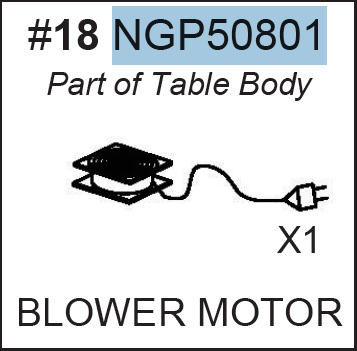 Replacement Part NGP50801 Blower Motor