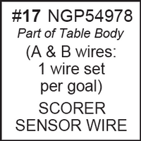 Replacement Part NGP54978 SENSOR WIRE FOR ELEC SCORER (Pair of 2)