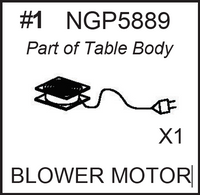 Replacement Part NGP5889 Blower Motor