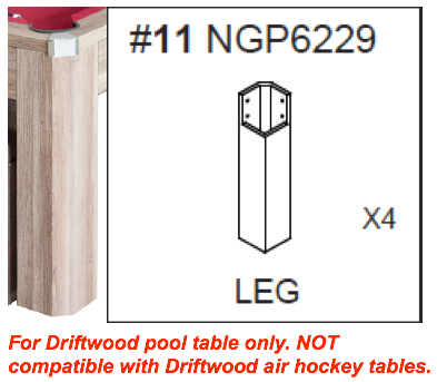 Replacement Part NGP6229 Set of 4 Legs