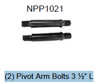 Replacement Part NPP1021 PIVOT ARM BOLT SET OF 2