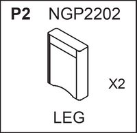 Replacement Part NGP2202 - Leg (Pair)