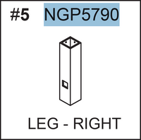 Replacement Part NGP5790 LEG-RIGHT