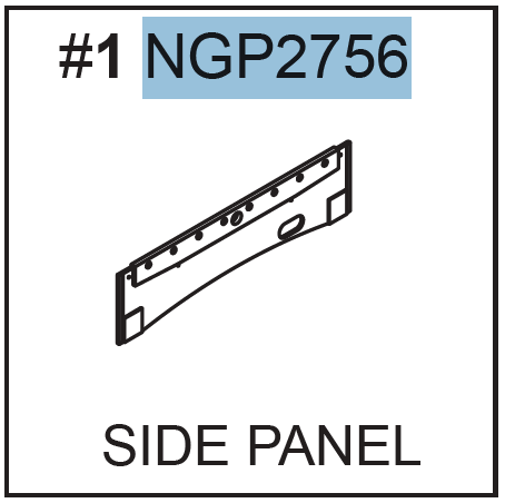 Replacement Part NGP2756 Side Panel