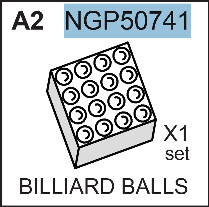 Replacement Part NGP50741 BILLIARD BALLS
