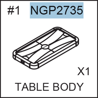Replacement Part NGP2735 Table Body