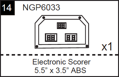 Replacement Part NGP6033 Electronic Scorer