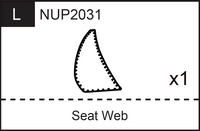 Replacement Part NUP2031 Seat Web