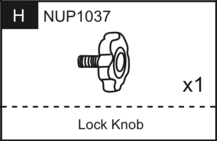 Replacement Part NUP1037 Lock Knob