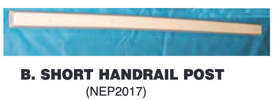 Replacement Part NEP2017 Short Handrail Post