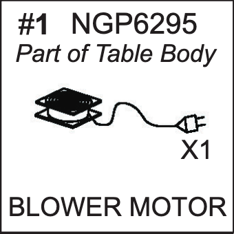 Replacement Part NGP6295 Blower Motor